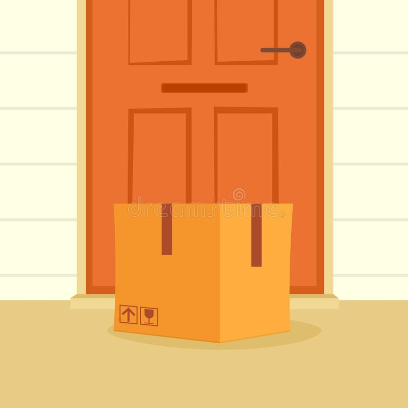 Box at door